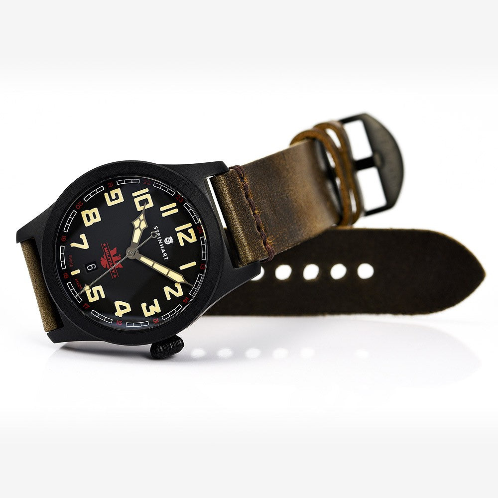 steinhart military 42 automatic black