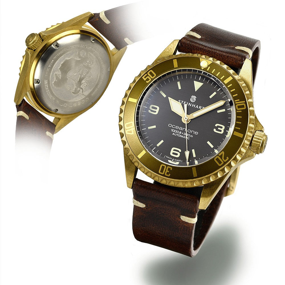 Bezel dark brown - rubber strap