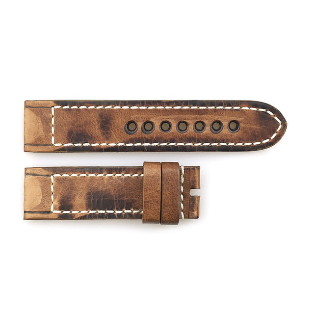 Leather strap vintage brown for Military 47