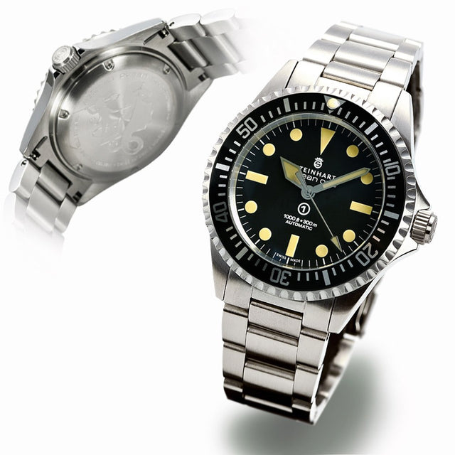 STEINHART OCEAN ONE VINTAGE MILITARY / NEW
