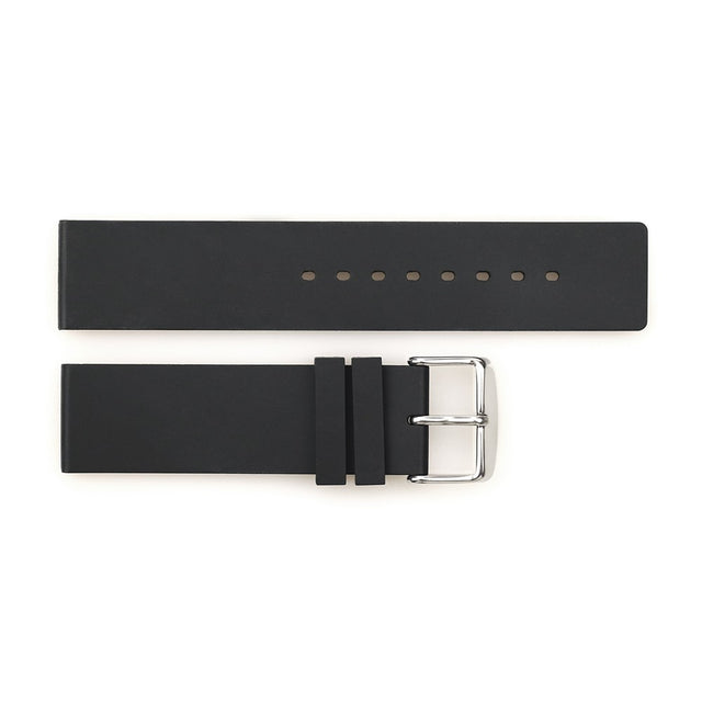 Rubber strap 22 mm black with pin buckle
