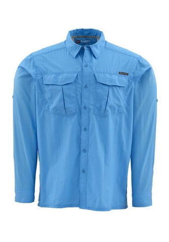 Simms Clinch LS Shirt Cornflower