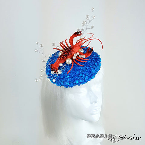 Lobster and shimmering ocean hat