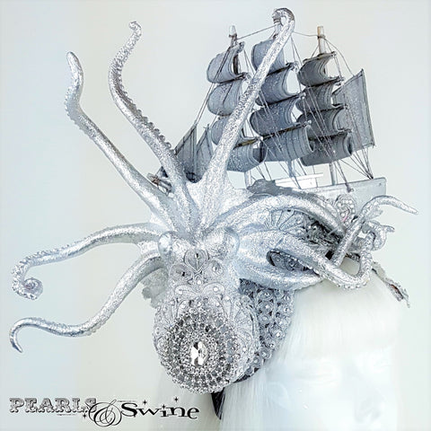 Sparkling Kraken and ship hat