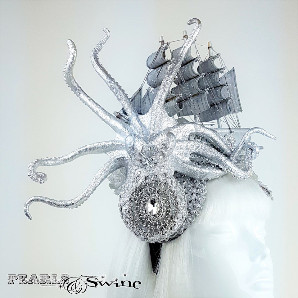 Silver Jewelled Kraken hat