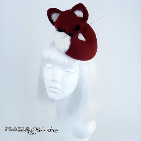Hand-blocked Red Fox Felt Hat