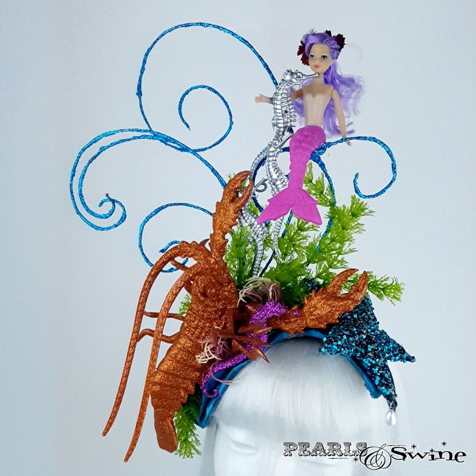 Whimsical Mermaid under the sea hat