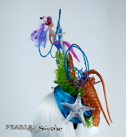 "Whimsical Lobster Mermaid Sea Hat ""Little Mermaid"""