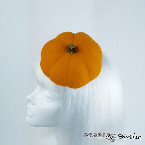 Orange Hand-blocked Pumpkin Hat