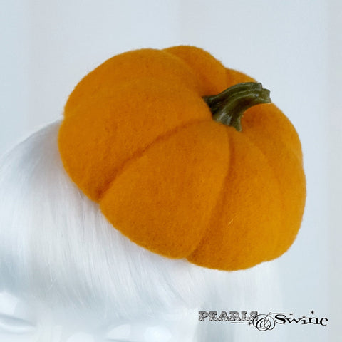 Unique Felt Pumpkin Hat