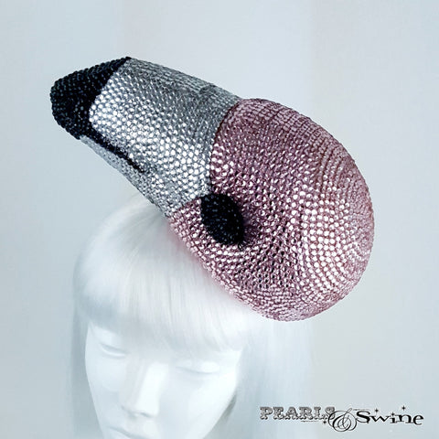 Surreal pink flamingo hat