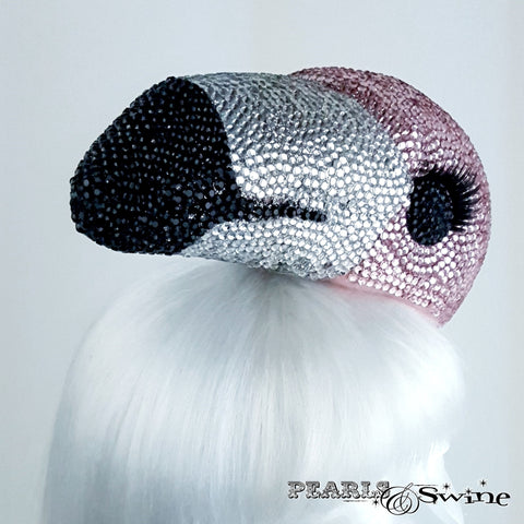 Unusual Bejewelled Pink Flamingo hat