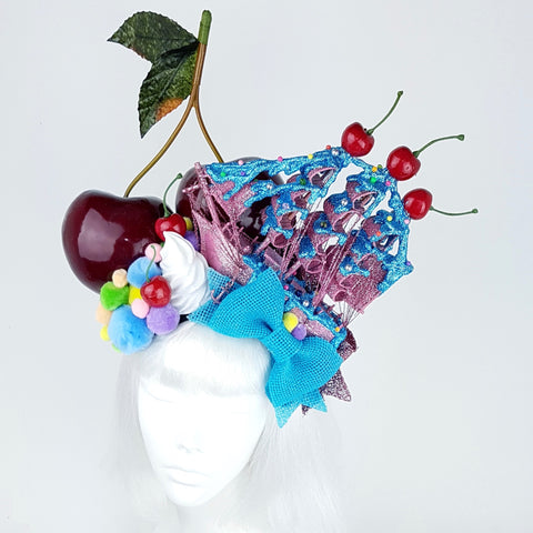 P&SSALE07: Cherry pom pom ship hat