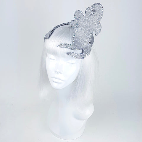 Vintage mermaid silver fascinator