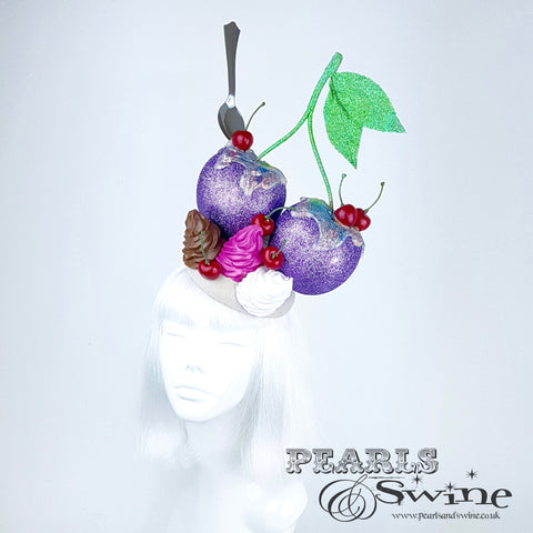 giant cherry headpiece fascinator