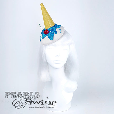 dropped ice cream fascinator hat