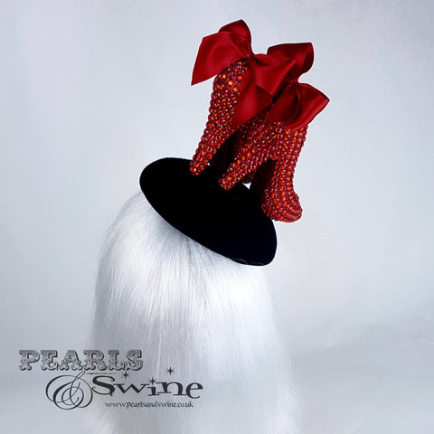 red bows heel shoes dorothy hat