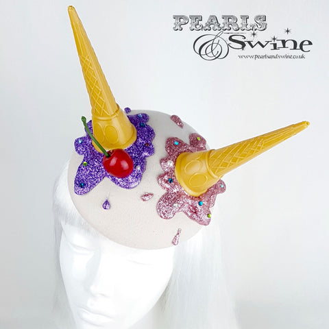 """Oopsie"" Dropped Ice Cream Crystal Cherry Hat"