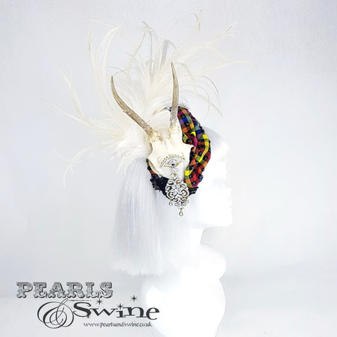 skull feather headpiece