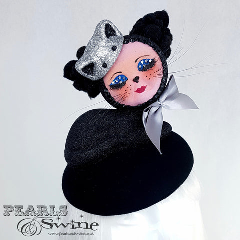 """Bastet"" Doll Face Black Kitty Hat"