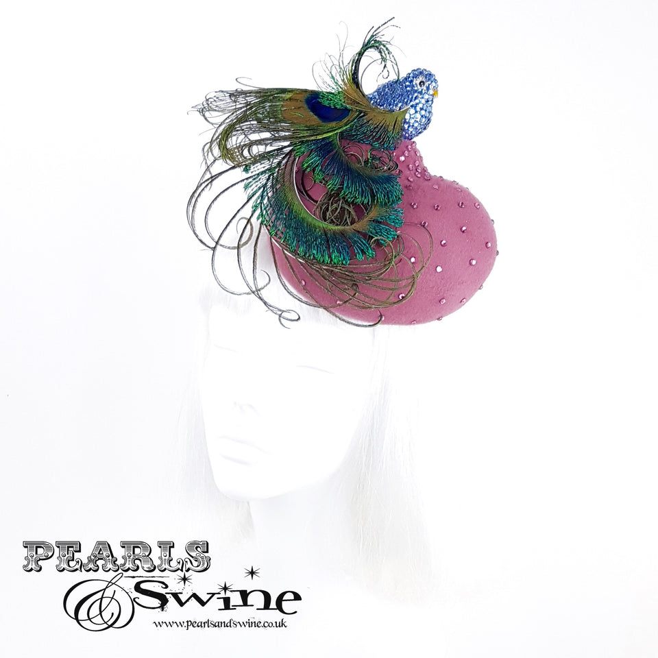 """Birdy"" Feather Bird Hat"