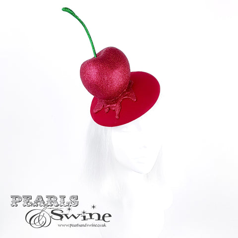red cherry headpiece