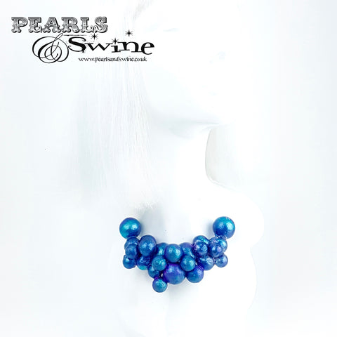 """Mermaid"" Iridescent Blue Bubble Necklace"