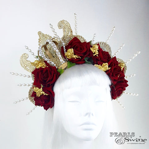 gold and pearl crown