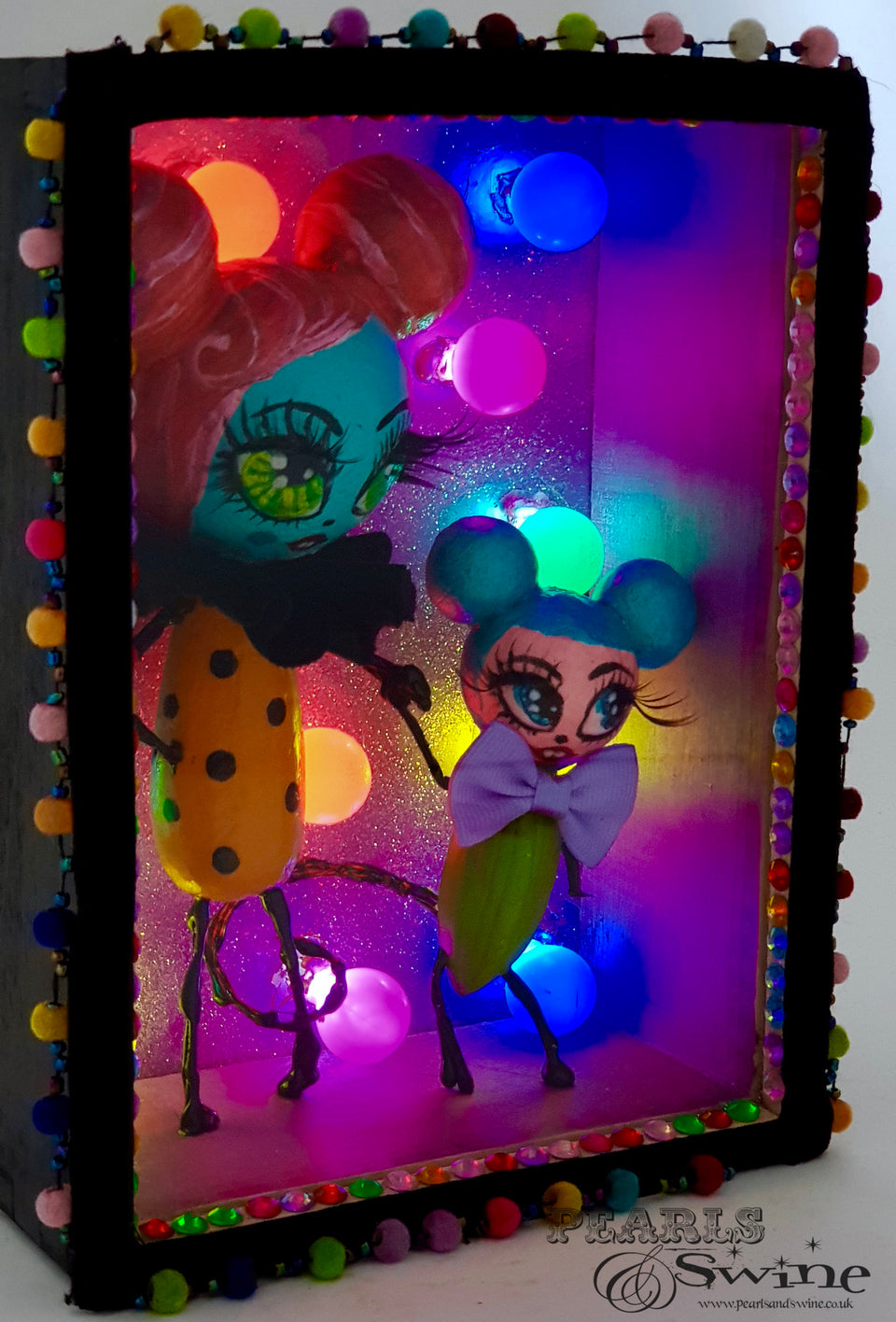 "Light Up ""Fiesta"" Disco Doll in Framed Box Art"