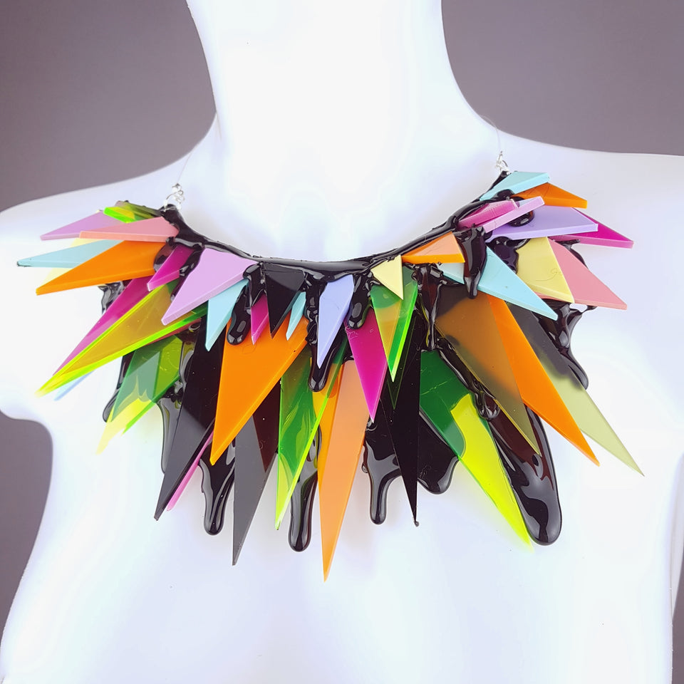 """Pas de Câlins"" Eighties Inspired Necklace (Similar Can Be Made)"