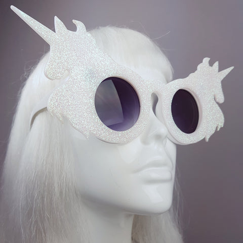 """The Colour of Magic"" Iridescent Glitter Unicorn Sunglasses"