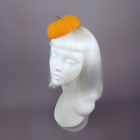 """Autumnal"" Orange Halloween Pumpkin Hat"