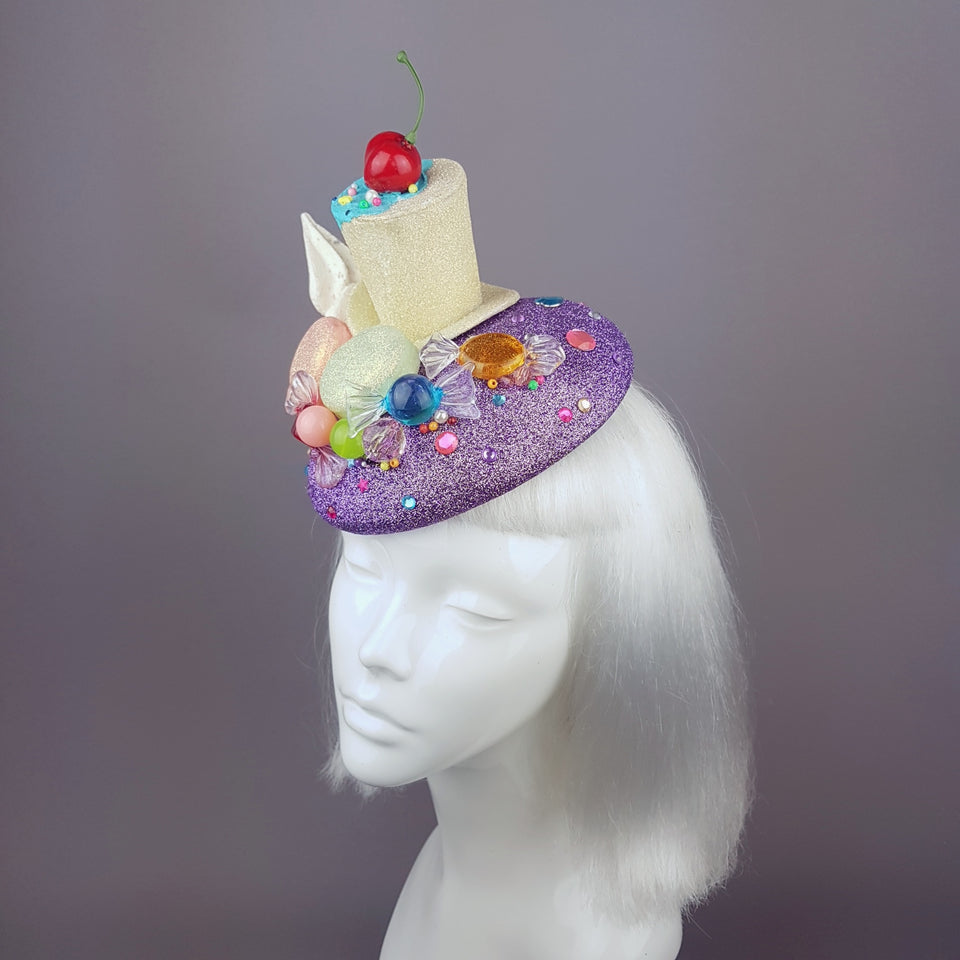 """Délicieux"" Glitter Cake Candy Hat"