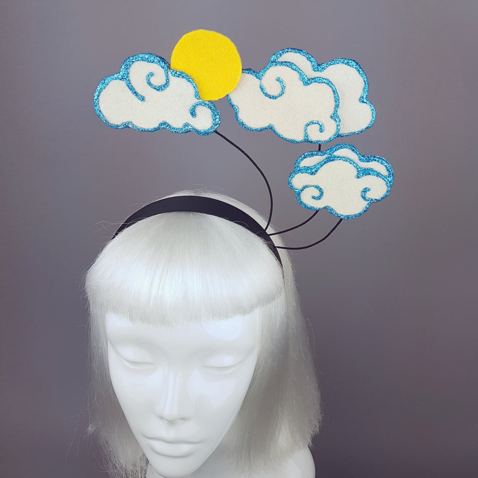 """Daydreamer"" Cloud and Sun Headband"