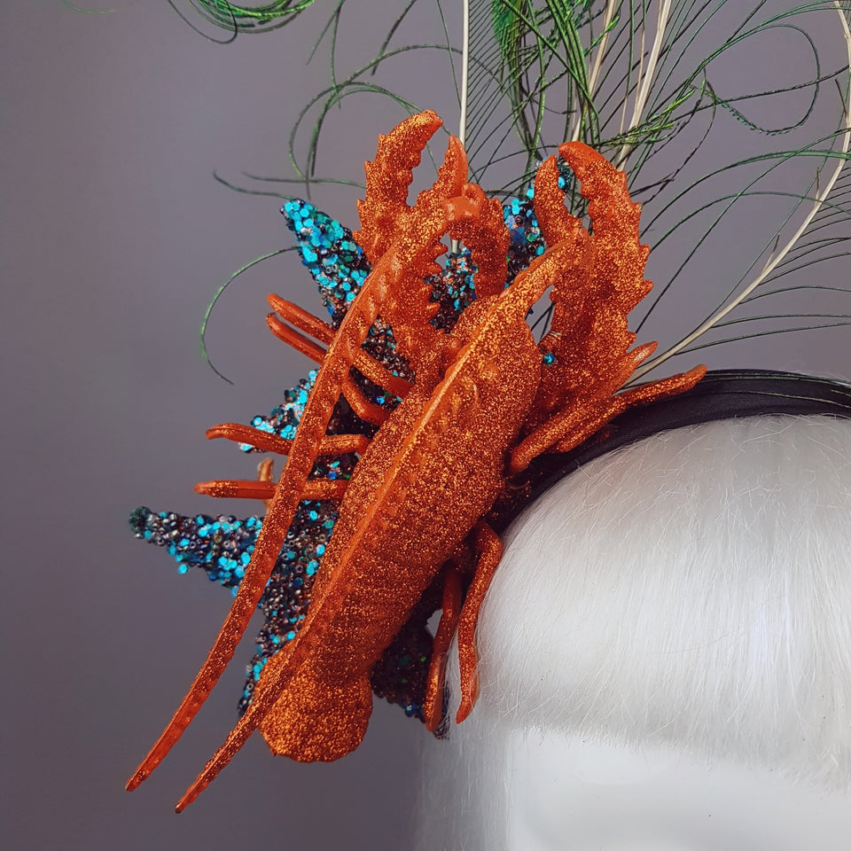 """Under The Sea"" Quirky Lobster & Starfish Headband"