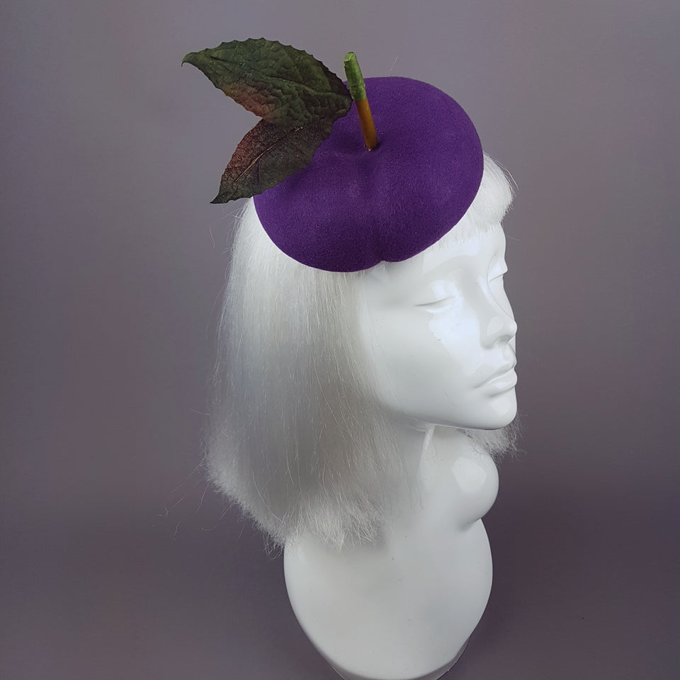 """Victoria"" Purple Plum Fruit Hat"