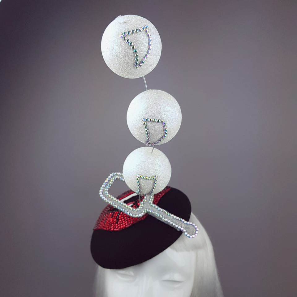 """Bubble Blower"" Red Crystal Lips Hat"