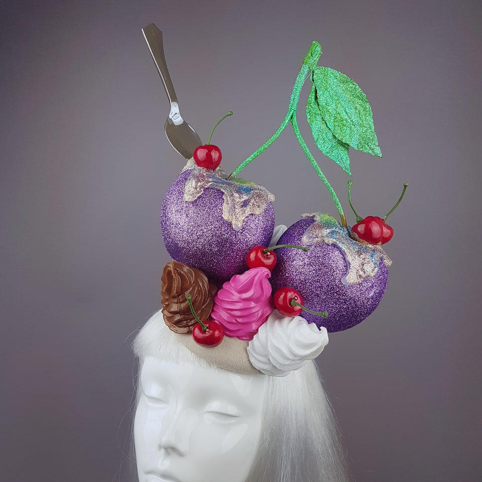 """Yum Yum"" Giant Glittered Cherries Hat"