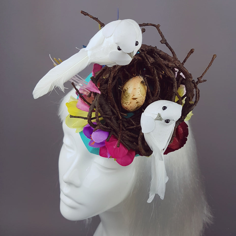 """Le Tweet"" Whimsical Bird's Nest Hat"