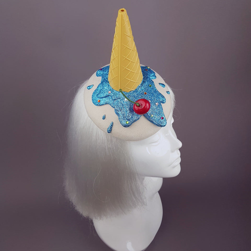 """Caído"" Surreal Glitter Dropped Ice Cream Hat"