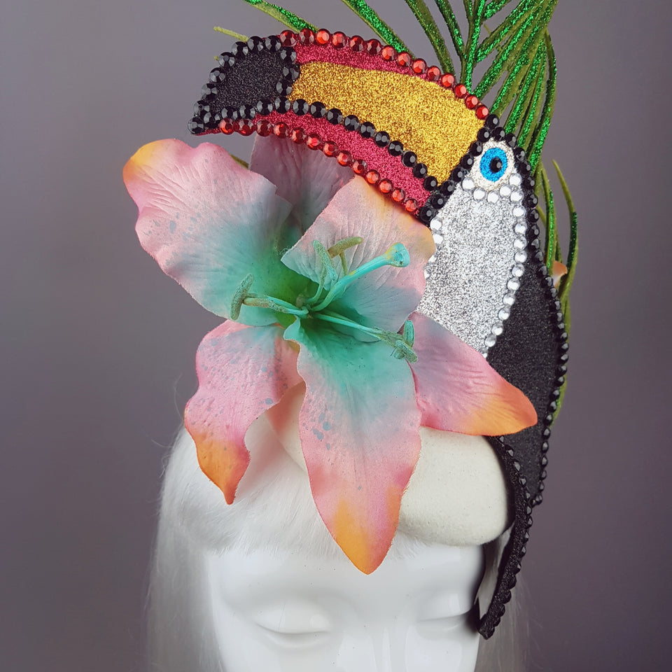"""Costa Rica"" Toucan Tropical Flower Hat"