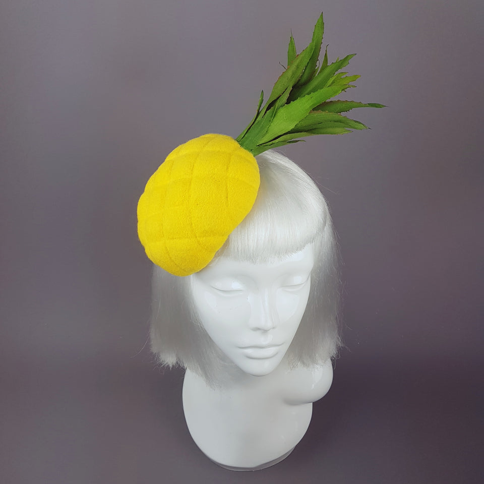 """Sweet & Sour"" Unique Yellow Pineapple Hat"