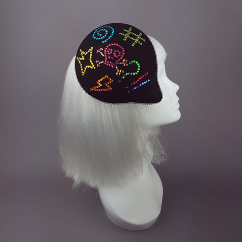 """Sacré Bleu"" Diamante Speech Bubble Hat"