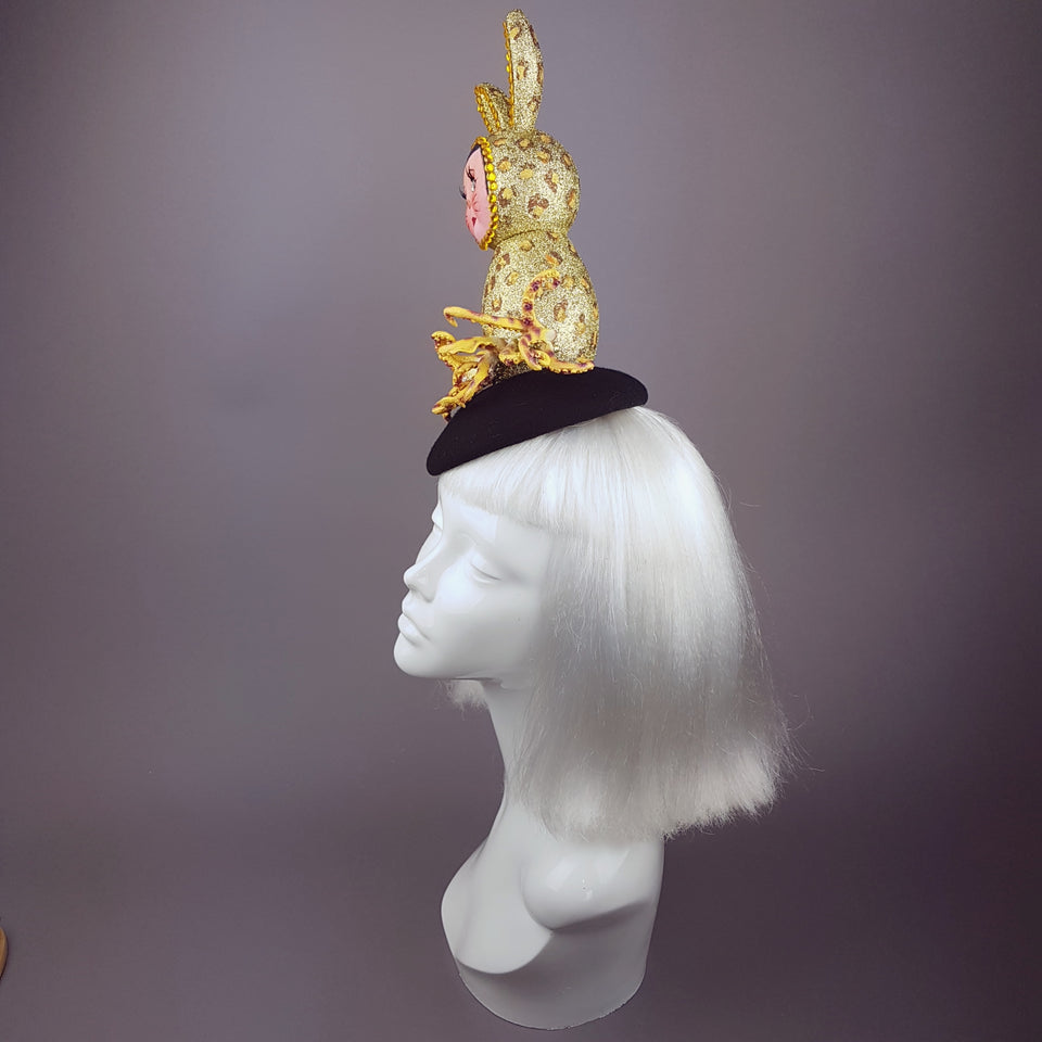 """Mélange"" Golden Doll Face Octopus Hat"