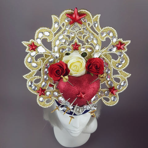 """Devotion"" Ornate Virgin Mary Halo Headdress"