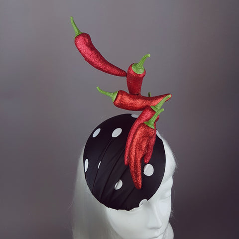 """Some Like It Hot"" Chilli & Polka-Dot Hat"