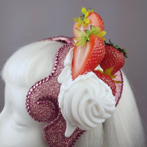 """Whipped"" Strawberries and Cream hat"