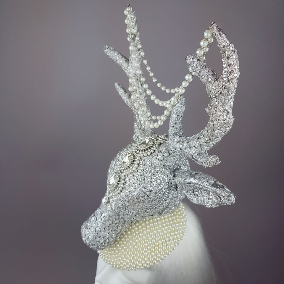 """Out of the Mist"" Jewel encrusted Stag Hat"