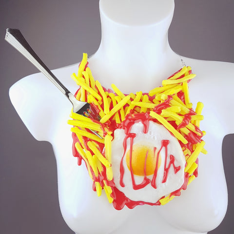 """Munchies"" Egg & Chips Neckpiece"