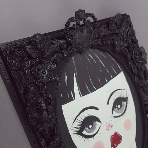 """Aurora"" Gothic Doll Framed Art"